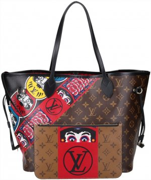 36109 LOUIS VUITTON NEVERFULL MM SCHULTERTASCHE AUS MONOGRAM KABUKI CANVAS