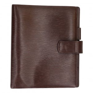 36173 LOUIS VUITTON AGENDA FONCTIONNEL GM AUS EPI LEDER IN MOKA BRAUN