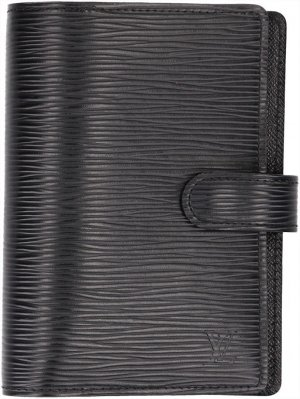 36465 LOUIS VUITTON AGENDA FONCTIONNEL PM AUS EPI LEDER IN NOIR