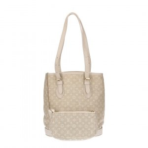 36622 LOUIS VUITTON BUCKET PM HENKELTASCHE AUS MONOGRAM MINI LIN CANVAS IN DUNE