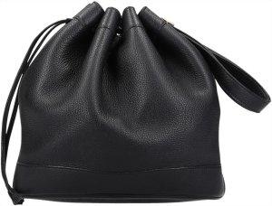36884 Hermès Markte 28 cm Clemence Leder Handtasche in Dunkelblau