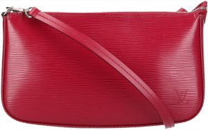36989 Louis Vuitton Pochette Accessoires NM Epi Leder in Fuchsia Handtasche, Clutch