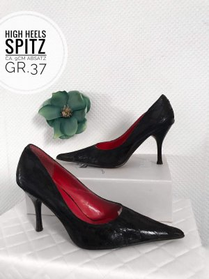 37 high heels spitze Schuhe Pumps schwarz blogger vintage boho schick blogger