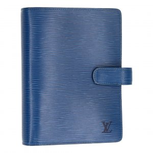 37066 LOUIS VUITTON AGENDA FONCTIONNEL MM AUS EPI LEDER IN TOLEDO BLAU