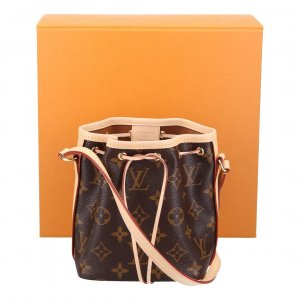 37291 LOUIS VUITTON NANO NOÉ UMHÄNGETASCHE AUS MONOGRAM CANVAS