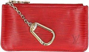 Louis Vuitton Llavero rojo Cuero