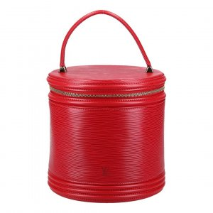 37407 LOUIS VUITTON CANNES HANDTASCHE AUS EPI LEDER IN CASTILLIAN ROT
