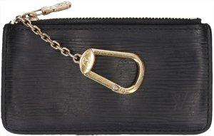 Louis Vuitton Etui voor sleutels zwart-goud Leer