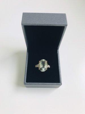 375 Gelbgold Ring mit Amethyst und Zirkonia