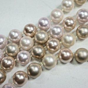 375 gold Perlenkette 9k gold perlen kette Halskette necklace pearls goldkette
