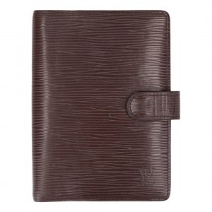 37500 Louis Vuitton Agenda Fonctionnel PM aus Epi Leder in Moka Braun