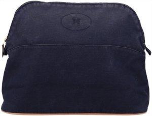 Hermès Borsa clutch blu scuro Cotone