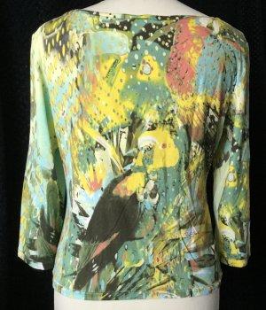 Roberto Cavalli Manica lunga multicolore Lycra
