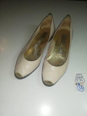 38 Schuhe Ballerinas mit Absatz vero cuoio