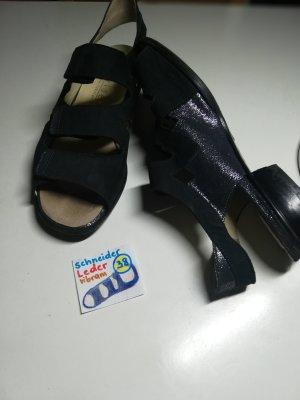 38 Schuhe Sandale Schneider blau schwarz  Leder