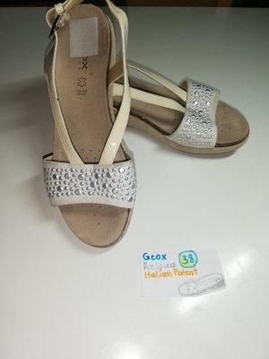 38 Schuhe Sandalen Geox beige creme