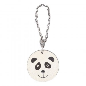 38422 Hermès Anhänger - Schlüsselanhänger aus Leder Motiv Panda
