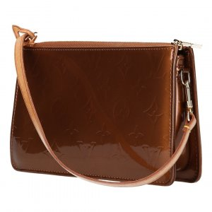 38448 LOUIS VUITTON LEXINGTON CLUTCH AUS MONOGRAM VERNIS LEDER IN BRONZE