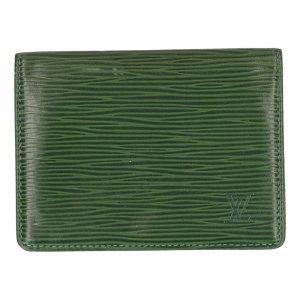 Louis Vuitton Custodie portacarte verde Pelle