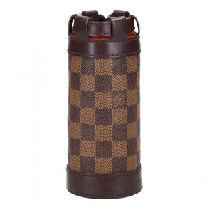 38516 LOUIS VUITTON BOTTLE HOLDER - FLASCHENHALTER AUS DAMIER EBENE CANVAS