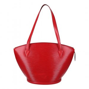 38524 LOUIS VUITTON SAINT JAQUES SHOPPING SCHULTERTASCHE AUS EPI LEDER IN CASTILLIAN ROT
