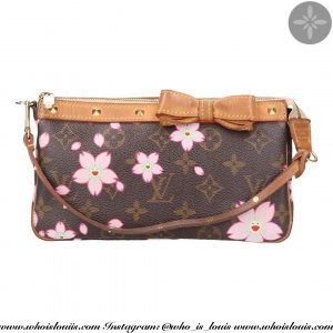 38668 LOUIS VUITTON POCHETTE ACCESSOIRES CLUTCH AUS MONOGRAM CHERRY BLOSSOM CANVAS