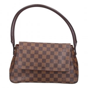 38984 LOUIS VUITTON MINI LOOPING HANDTASCHE AUS DAMIER EBENE CANVAS