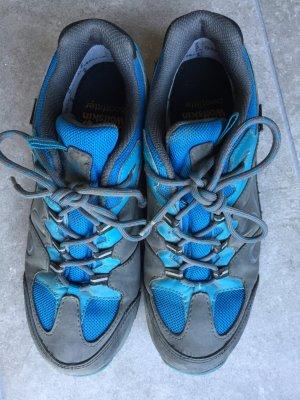 39 JACK WOLFSKIN Bootfitter Texapore Schuhe Wanderschuhe echt Leder grau blau