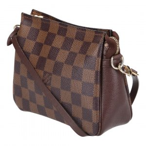 39025 LOUIS VUITTON TROUSSE MAKE-UP CLUTCH AUS DAMIER EBENE CANVAS