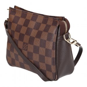 39057 LOUIS VUITTON TROUSSE MAKE-UP CLUTCH AUS DAMIER EBENE CANVAS