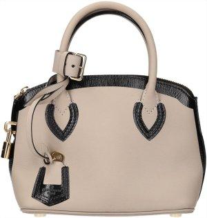 39193 Louis Vuitton Lockit Mini Handtasche, Henkeltasche aus geschmeidigem Leder in Grau und Schwarz
