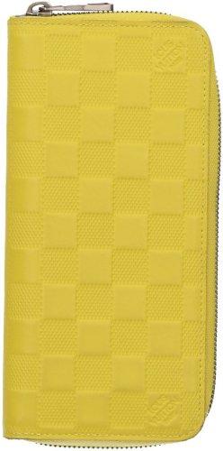 39381 Louis Vuitton Zippy Vertical Geldbörse, Geldtasche, Portemonnaie aus Damier Infini Leder in Vert Acide