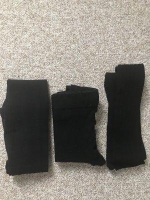 3er Pack Strumpfhosen/Leggings Schwarz Gr. XS