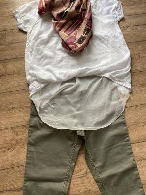 3er Set lee Jeans+weiß shirtbluse+Tuch