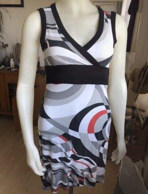 3suisess Kleid weiß /schwarz/rot Gr 36