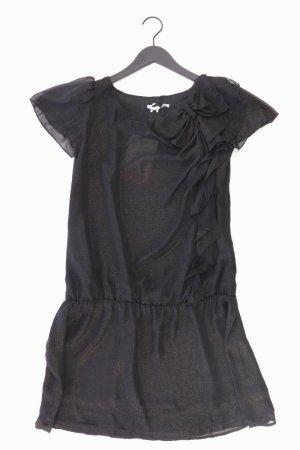 3SUISSES Abendkleid Größe 38 Kurzarm schwarz aus Polyester