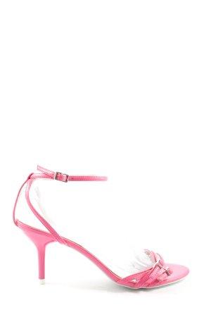 3suisses Sandały na obcasie różowy W stylu casual