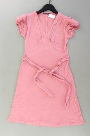 3SUISSES Jerseykleid Größe 36 mit Gürtel Kurzarm pink aus Viskose