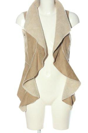 3suisses Kamizelka ze sztucznym futrem brązowy W stylu casual