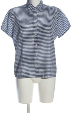 3suisses Koszula z krótkim rękawem niebieski-biały Wzór w kratkę