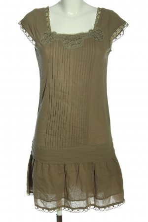 3suisses Sukienka z krótkim rękawem khaki Elegancki