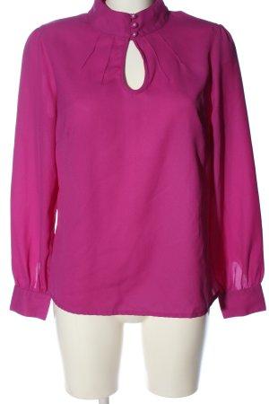 3suisses Bluzka z długim rękawem różowy W stylu biznesowym