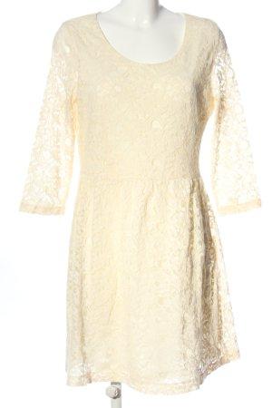 3suisses Sukienka z długim rękawem kremowy W stylu casual