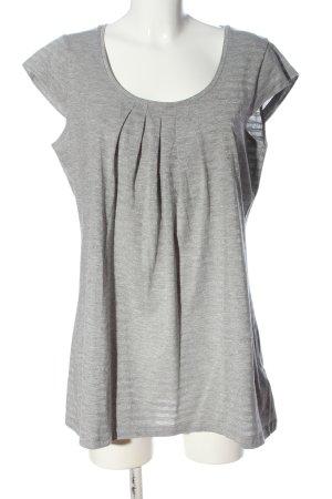 3suisses Długa koszulka jasnoszary Melanżowy W stylu casual