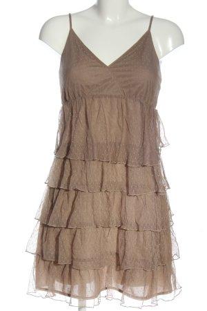 3suisses Sukienka mini brązowy W stylu casual