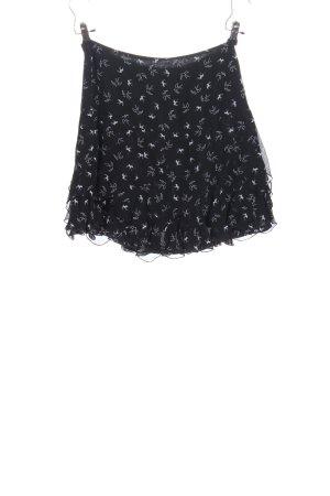 3suisses Spódnica mini czarny-biały Na całej powierzchni W stylu casual