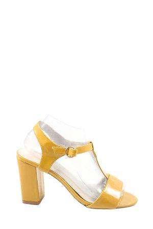 3suisses Sandales à talons hauts et lanière jaune primevère