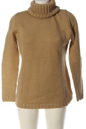 3suisses Sweter z golfem brązowy W stylu casual