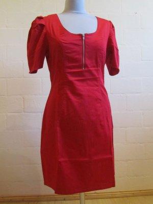 3SUISSES: Rotes schmales Chintz-Kleid, Gr. 42, NEU