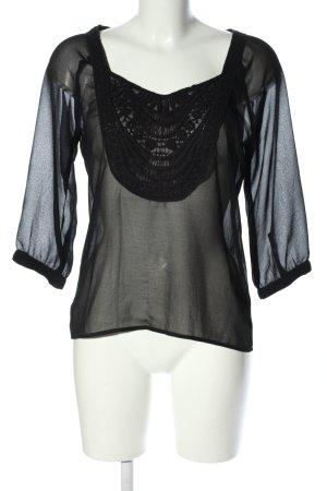 3suisses Bluzka przez głowę czarny W stylu casual